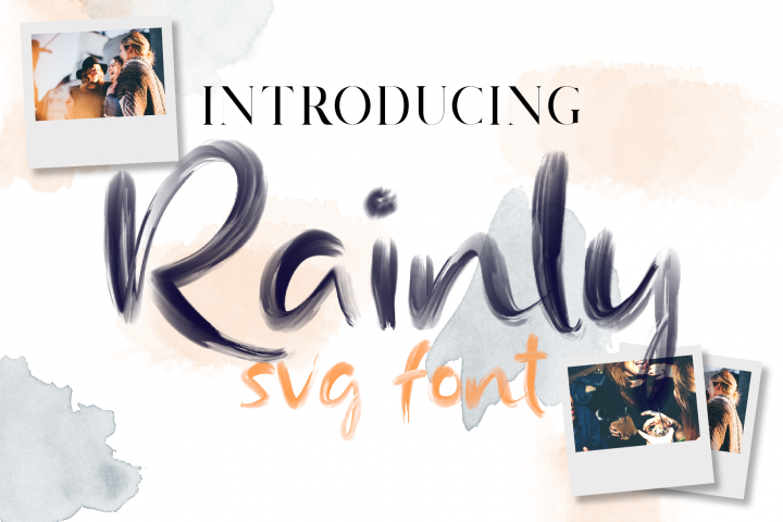 Rainly - Brush & SVG Font