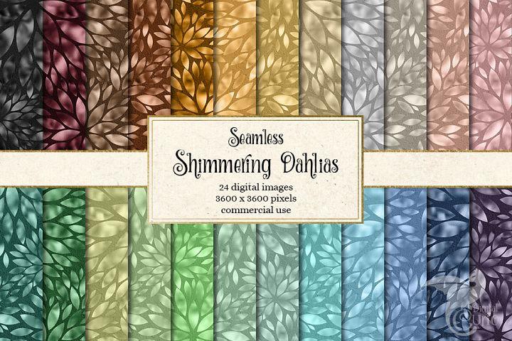 Shimmering Dahlias Digital Paper