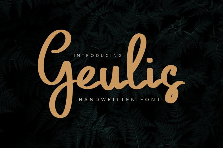 Geulis Stylish Font
