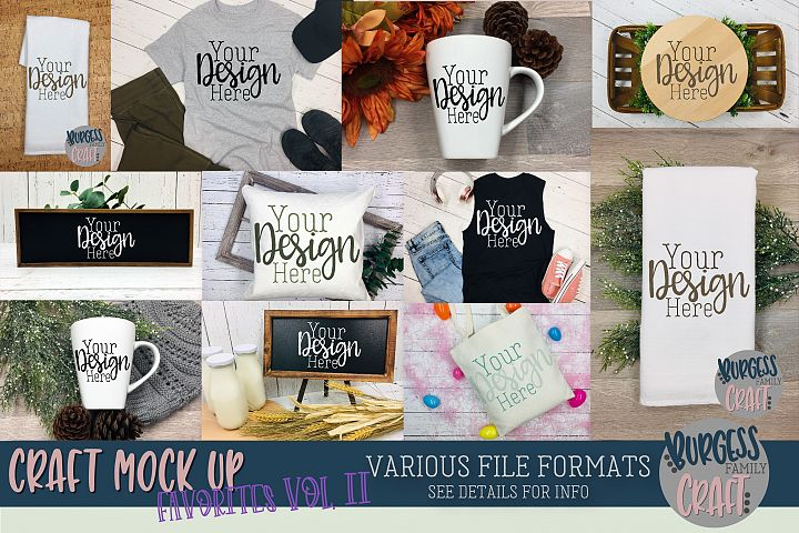Favorites Vol. II Craft mock up Bundle | PSD & JPEG