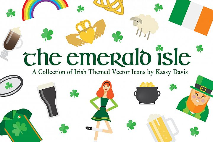 The Emerald Isle - Irish Icon Set!