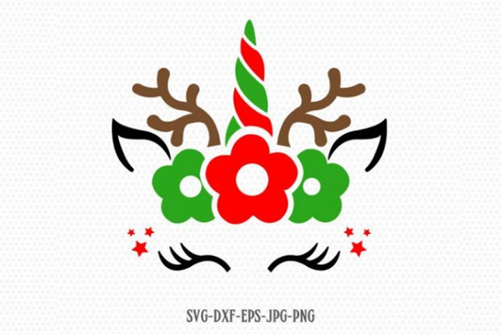Unicorn svg, Christmas unicorn svg, Reindeer SVG