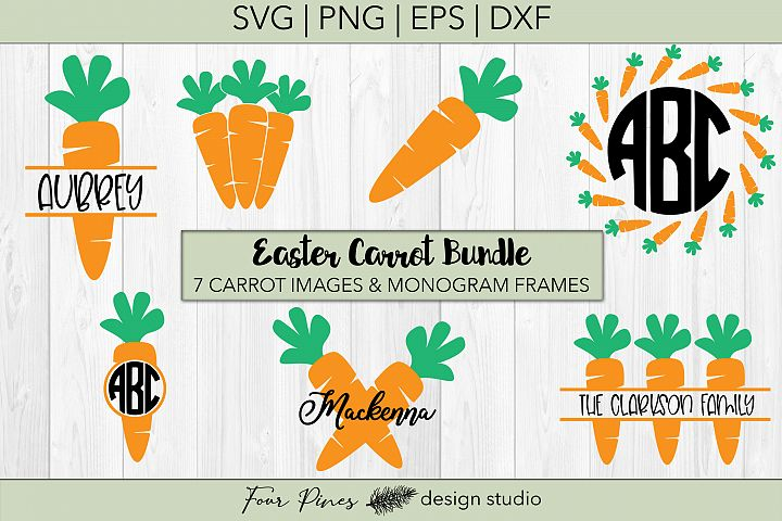 Easter Carrot Monogram Bundle