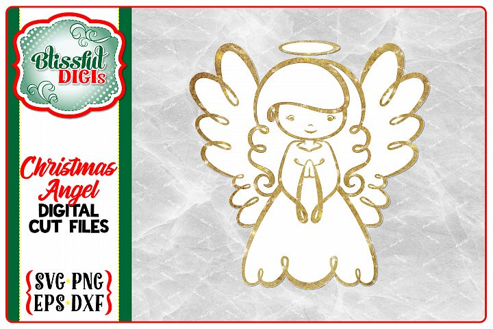 Christmas Angel - Digital Cut File - SVG, EPS, DXF, PNG