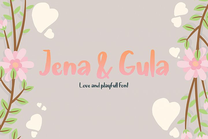Jena & Gula | Love and Playfull Font