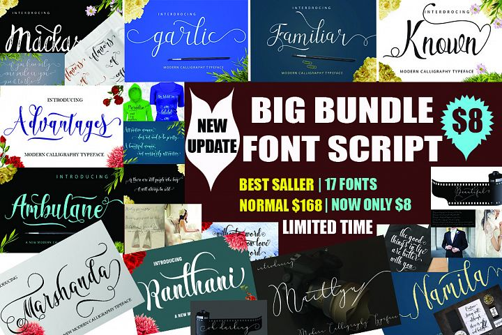 BIG BUNDLE FONT SCRIP