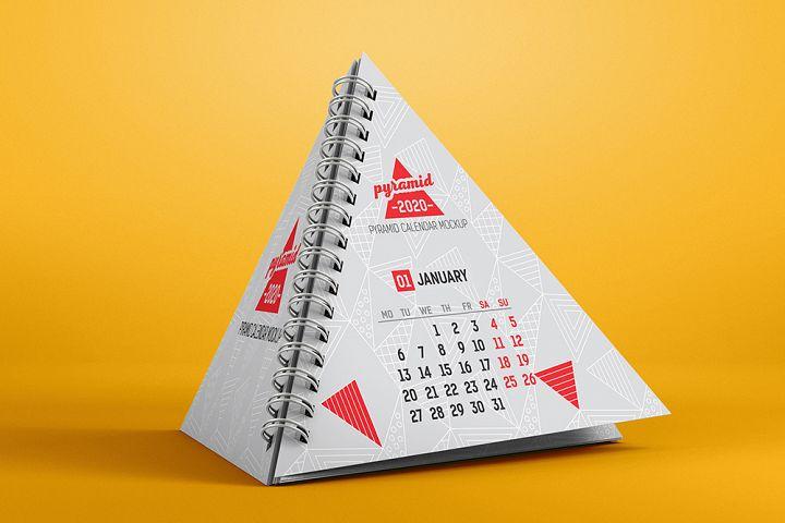 Pyramid Calendar Mockup