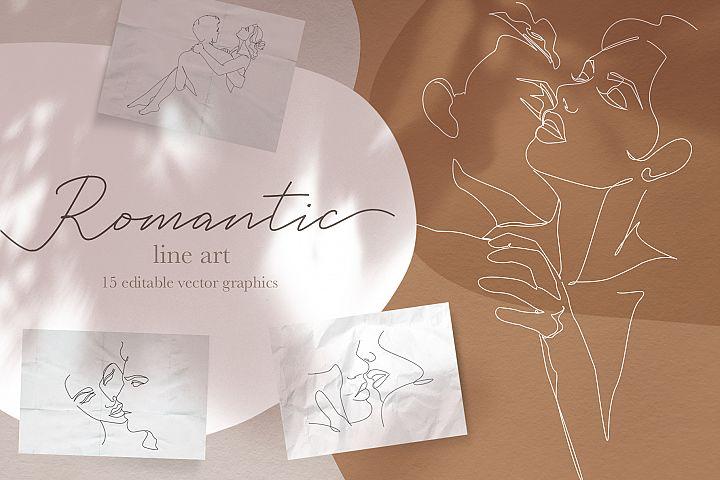Romantic Vector Line Art