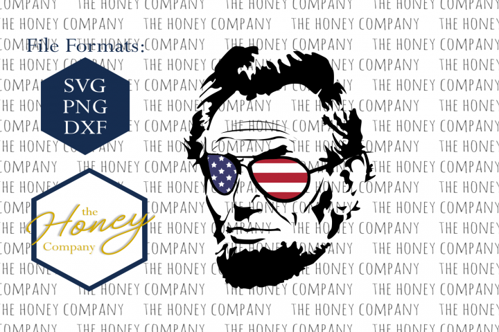 Cool Abe Lincoln SVG PNG DXF 4th of July Design Instant Download Silhouette Cricut Cut Files Cutting Machine Vector File