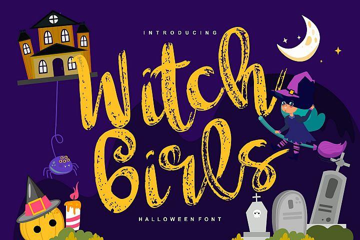 Witch girls | Script Halloween Font