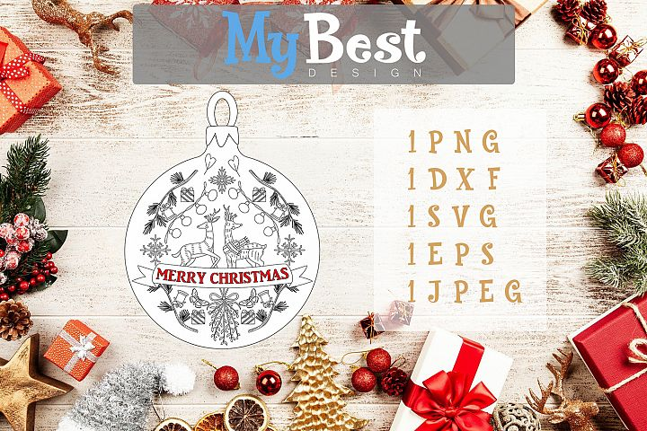 Merry Christmas Mandala Instant Download