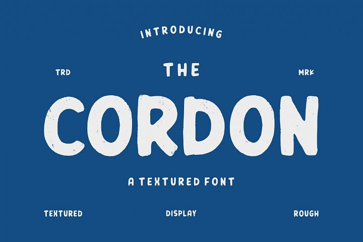 Cordon - Textured Font
