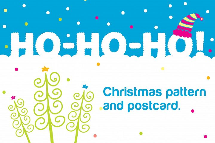 Ho-ho-ho! Christmas seamless pattern.