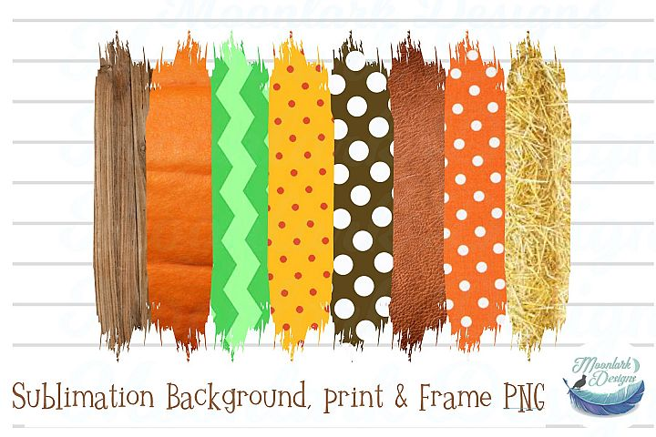 Fall Pumpkin Patch Background png wood polka dot hay chevron