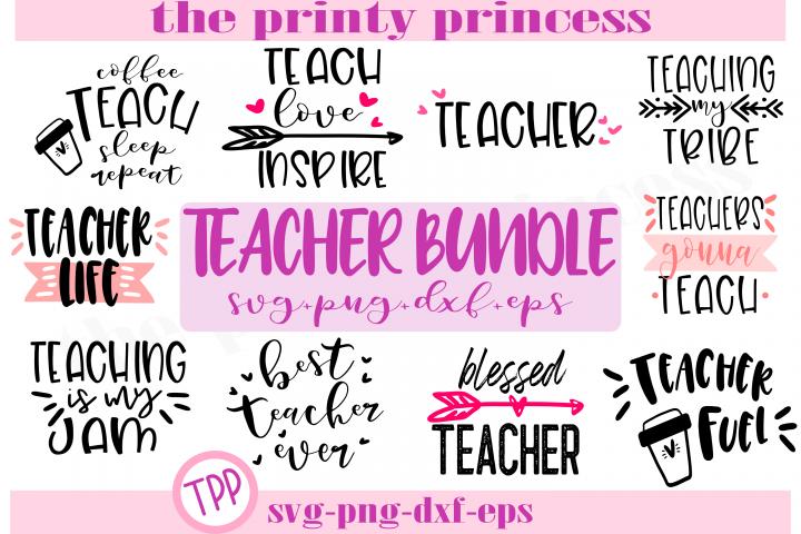 Teacher Bundle svg, Teacher cut files, teacher svgs