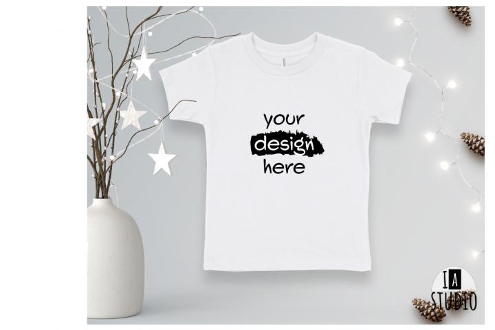 Bella Canvas 3001T Christmas Mockup / White Tshirt Mockup