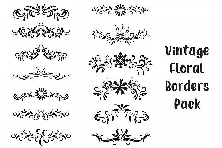 Vintage Floral Borders - Vector