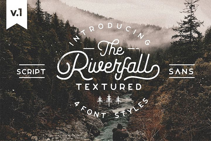 Riverfall Rounded Textured Typeface Ver.1