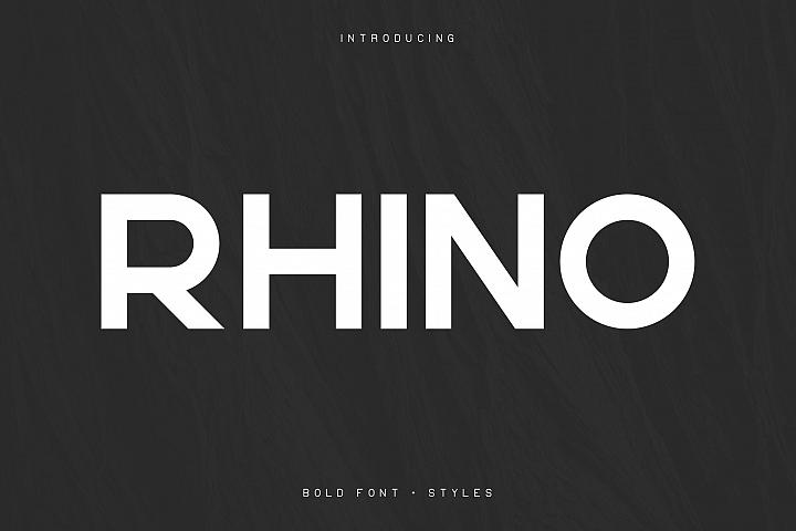 Rhino Bold font Styles