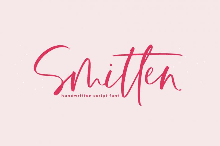 Smitten - A Handwritten Script Font