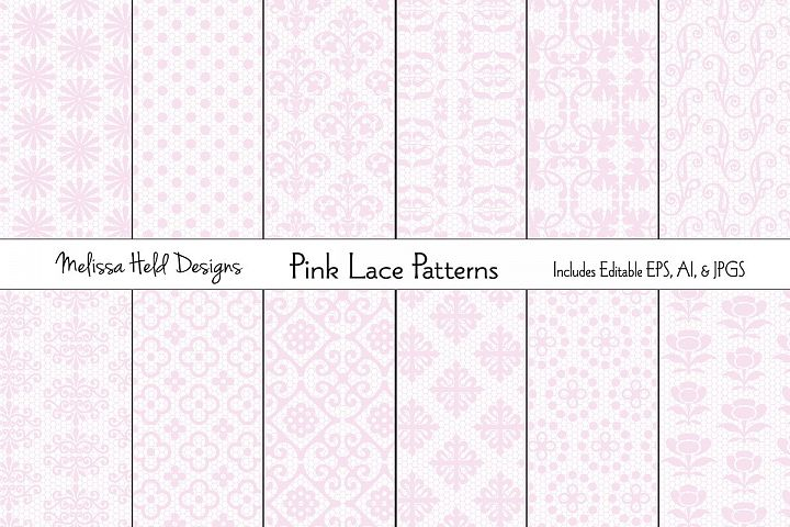 Pink Lace Patterns