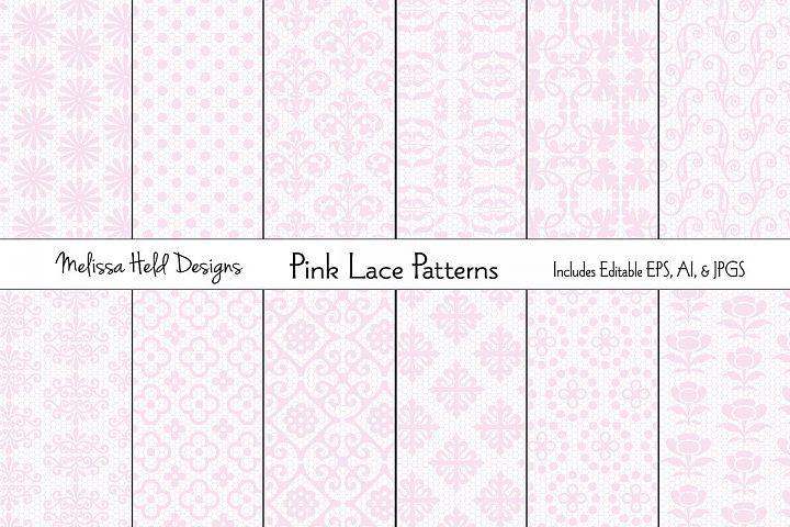 Pink Lace Patterns