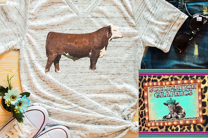 Hereford Bull Sublimation Digital Download
