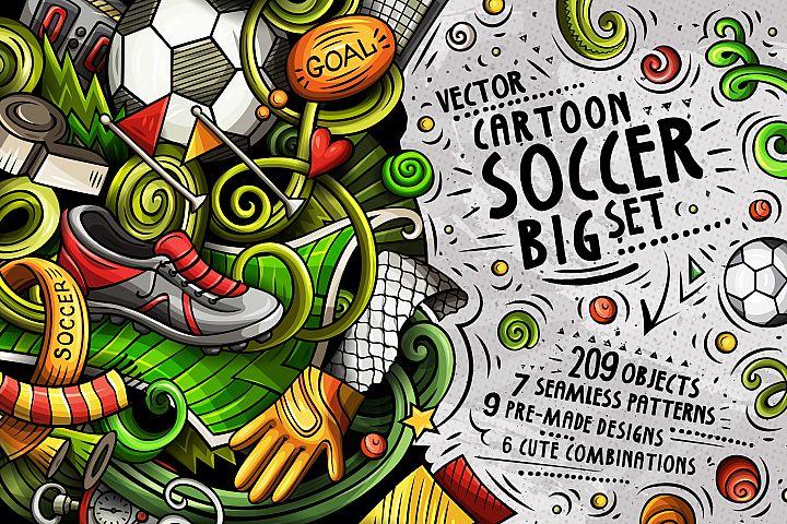 Soccer Cartoon Doodle Big Pack