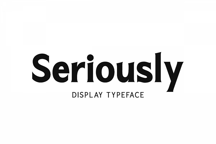 Seriously Display Serif 3 weights