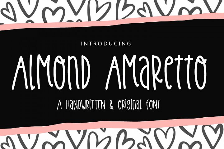 Almond Amaretto- Handwritten Font
