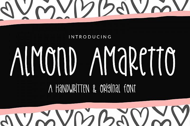 Almond Amaretto- Handwritten Font