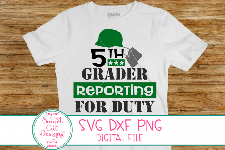 5th Grader Reporting For Duty SVG, 5th Grade SVG, Boy SVG