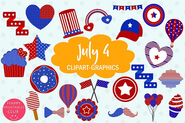 40 July 4 Clipart Graphics-Patriotic Clipart-4 July Clipart