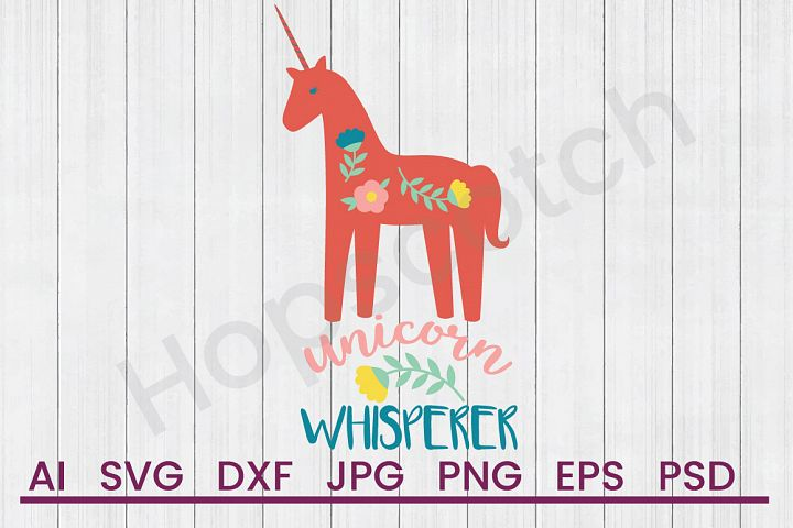 Unicorn SVG, Whisperer SVG, DXF File, Cuttatable File