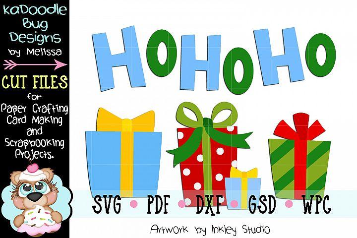 Christmas Santas Presents Cut File - SVG PDF DXF GSD WPC