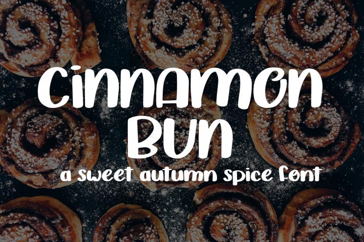 Cinnamon Bun - A sweet, handwritten font