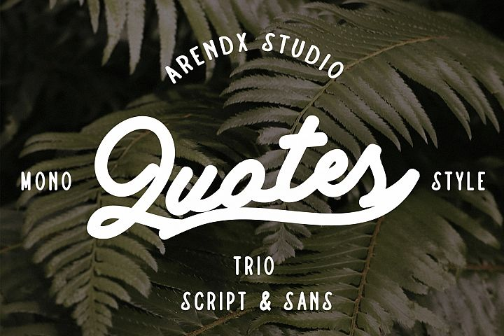 Quotes Vintage - Font Bundle
