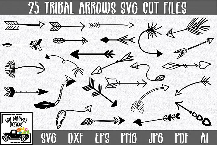 Tribal Arrows SVG Bundle with 25 SVG Cut Files