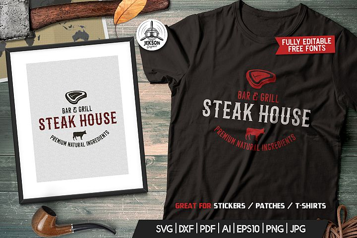 Grill Bar Print Design for TShirt Retro Vector SVG Cut File