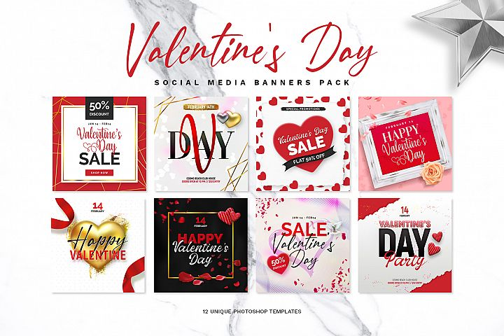 Valentines Day Banner Pack