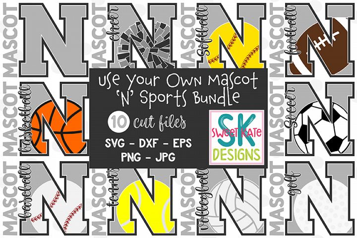 Your Own Mascot N SVG Bundle - 10 - SVG DXF EPS PNG JPG
