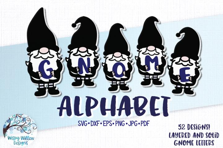Gnome Alphabet SVG | Gnome ABC Letters SVG