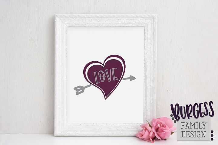 Valentine heart love arrow | SVG DXF EPS PNG
