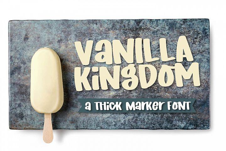 Vanilla Kingdom - A Thick Marker Font