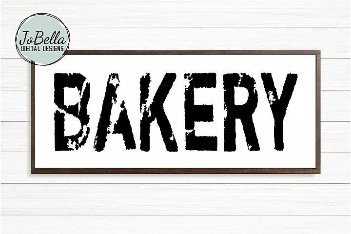 Bakery SVG, Sublimation & Printable Farmhouse Design