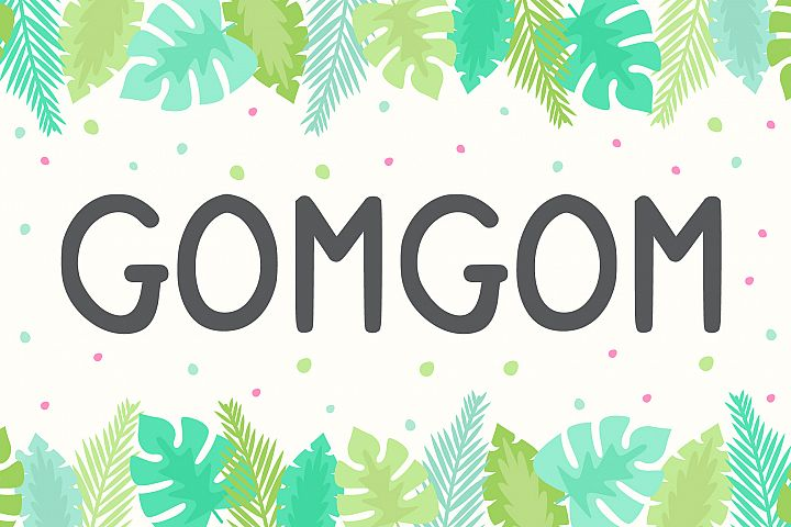 Gomgom | Handwriting Font
