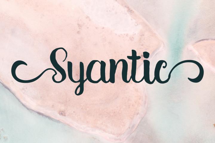 Syantic Handwritten Script