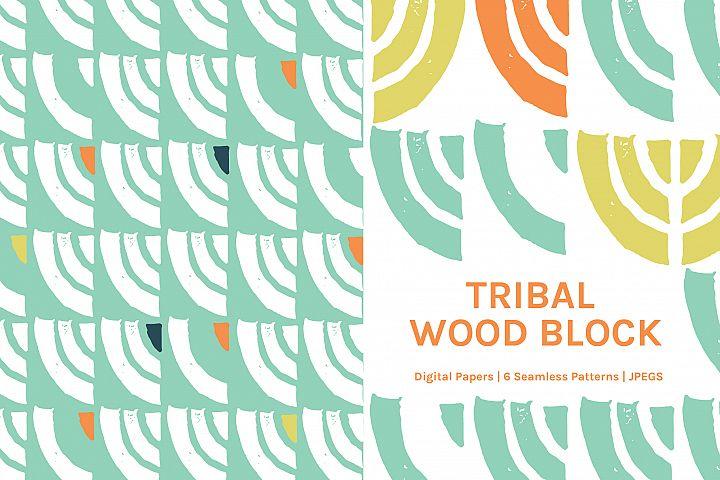 Tribal Wood Block
