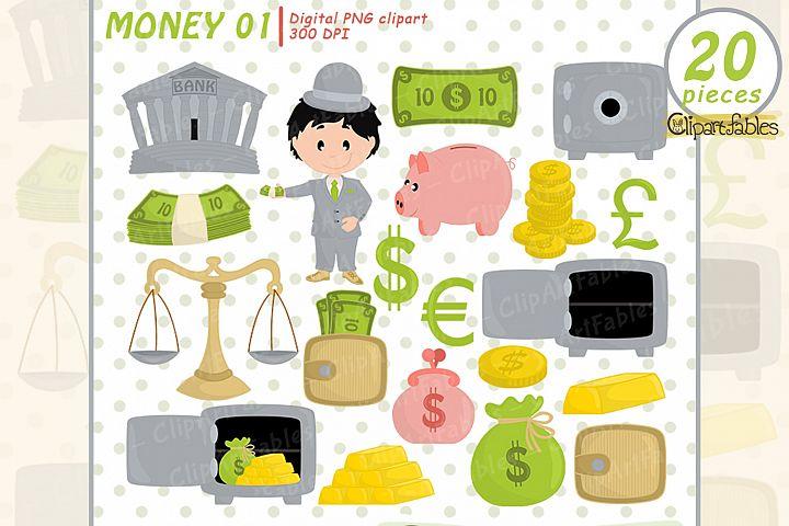 Money clipart, Cute piggy bank design, - INSTANT download