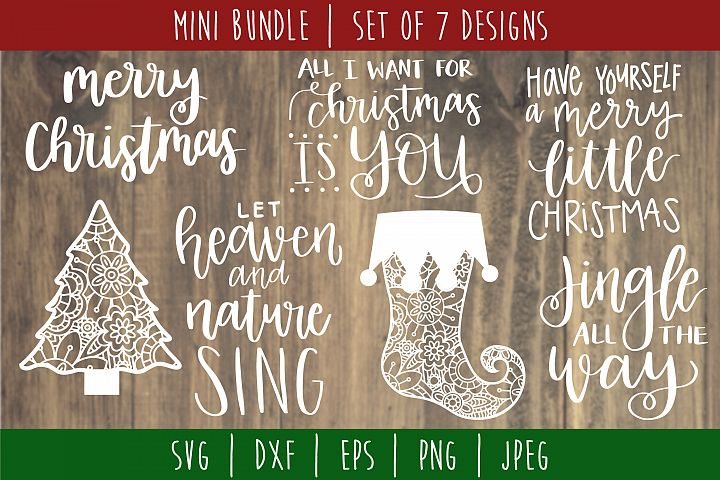 Christmas Mini Bundle Volume 2 Set of 7 - SVG